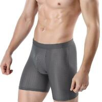 Men Underwear Body Shaper Shorts Pants Soft Fitness Boxer Pouch Breathable P8Z2