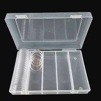 100Pcs 30mm Plástico Transparente Redondo Funda Moneda Almacenaje Capsulas Para