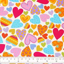 Cotton Fabric FQ Kawaii Floral Gingham Stripe Polka Dot Spot Heart Quilting VR9