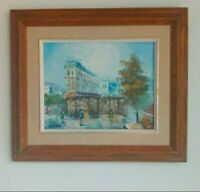 Vintage Original Paris Painting Oil On Canvas By R.Rambert Signed Framed