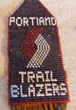 Portland Trailblazers Beaded Leather Fringe Souvenir Trail Blazers Seed Bead