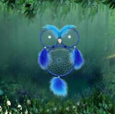 "26"" Handmade Dream Catcher Luminous Eyes Owl Feathers Wall Hanging Decoration"