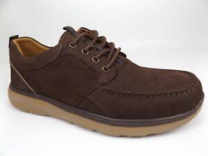 NEW Propet Orson Brown Tumbled Leather Moc-Toe Casual Shoes, SZ 12.0 D[M]  19608