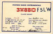 CPA  Station Radio Expérimentale - F5LW -Claude Brunet    (221882)