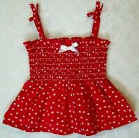 Baby Girls 4th Of July Sleeveless Dress Size 12 Months 1 Year Red Bow Accents