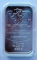 1oz 79th Element  Pure Silver Bar 999 London
