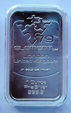 1oz 79th Element  Pure Silver Bar 999 London