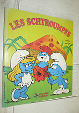 ALBUM PANINI SCHTROUMPFS 1983 INCOMPLET  DESSIN ANIME 123 STICKERS PEYO BD