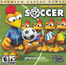 CRAZY CHICKEN SOCCER Fun Cartoon Sports Moor Kick Power Goal Windows PC Game NEW