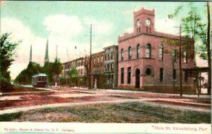 C51-7135, MAIN STREET, STROUDSBURG, PA. Post Card.