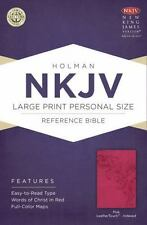 NKJV Large Print Personal Size Reference Bible, Pink LeatherTouch Indexed...