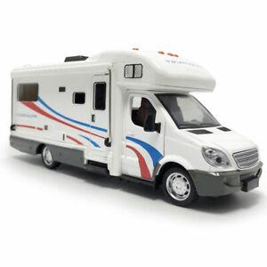 1:32 Camper Wohnmobil Metallic Modellauto Auto Spielzeug Sammlung Weiß Sound