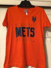 NY Mets Women's Size M V-neck T Shirt Nwt