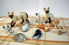 Set of 8 - Danbury Mint Cats of Character Figurines + 2 Bonus Figurines!