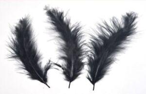 200 BLACK - Marabou Feathers - 7cm to 10cm Long