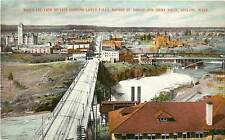 Washington, WA, Spokane, Bird's Eye View Early Postcard