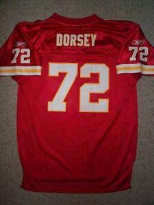 REEBOK Kansas City Chiefs GLENN DORSEY nfl Jersey YOUTH KIDS BOYS CHILDRENS (xl)