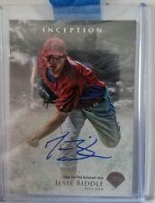Jesse Biddle autographed baseball card