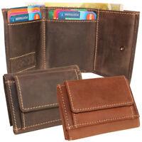 Leder Minibörse Geldbörse Geldbeutel Taschenbörse Kartenfächer Damen Herren