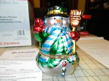 Mr. Christmas Animated Porcelain Music Box Plays Deck the Halls  Free Shipping