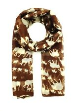 Brown Elephant Animal Print Ladies Fashion Scarf Wrap Sarong Long Soft Warm