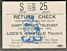 Boxing ticket stub SONNY LISTON / F. PATTERSON Heavyweight Title,Closed Circuit