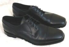 Brass Boot Mancini Black Leather Sole Cap Toe Dress Oxford Shoes Mens Size 9.5M