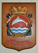 Large Hr Ms Dolfijn plaque shield crest Dutch Navy Netherlands gedenkplaat HNLMS