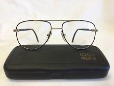 Vintage Lozza Prince Eyeglasses Sunglasses Aviator Gold Black Made in Italy