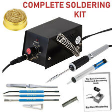 Professional Soldering Iron Station Kit Tool Set Pump Tip Cleaner Solder Wire