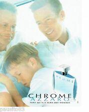 PUBLICITE ADVERTISING 116  1997  Azzaro  le nouveau parfum homme Chrome