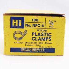 3/8 cable clamp nylon screw hole fastener 100 piece box Npc-6 cable anchor holub