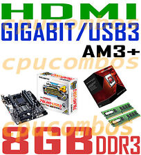 GAMING COMBO AMD FX-8370 AM3+CPU/8GB DDR3 RAM/GIGABYTE GA-78LMT-USB3 Motherboard