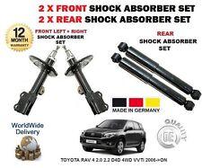 für Toyota RAV4 2.0 2.2 D4D VVTi 2006- > 2x vorne + 2x Hinten Stoßdämpfer Set