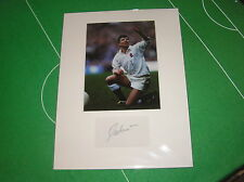 Rob Andrew Newcastle Falcons Signé Angleterre International Photo Montage