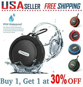 Bluetooth Wireless Speaker Waterproof Mic Mini Resistant Shower Potable Out C6