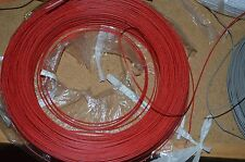 22 AWG Gauge Solid Hook Up Wire Red 50ft 300 Volts
