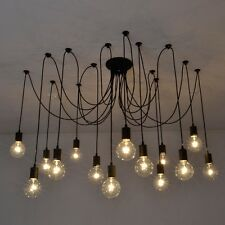 Vintage Edison Industrial Style Hanging Chandelier Lights Ceiling Pendant Lamps