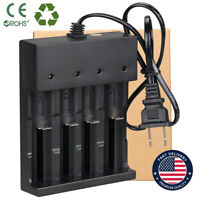 Li-ion NiCd Smart US Charger 4-Slot for 16340/18650/14500/26650 3.7V NiMH AAA AA