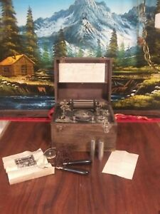 Antique 1917 Montgomery Ward Medical Quack Battery 3 Cell