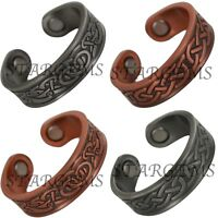 NEW COPPER MAGNETIC RING WOMENS MENS ADJUSTABLE ARTHRITIS HEALING PAIN RELIEF