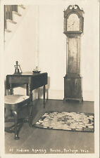 Portage WI * Indian Agency House RPPC 1939 * Grandfather Clock Antique Columbia