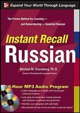Instant Recall Russian, 6-Hour MP3 Audio Program, Gruneberg, Very Good, Audio CD