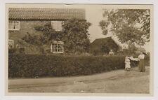 More details for nottinghamshire postcard - elston - early village scene - rp (a5)