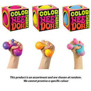Color Change Nee Doh Squeeze Schylling NEEDOH Yellow Blue Pink