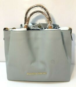 Dooney And Bourke Large Smooth Leather City Barlow Tote - ICE BLUE - NWT $368