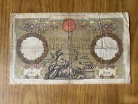 REGNO D' ITALIA BANCONOTA LIRE 100 ROMA GUERRIERA FASCIO ROMA 12 1 1935