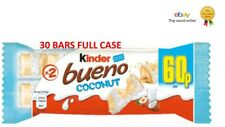 Kinder Bueno Coconut Bars 2 x 19.5g X 30 FULL CASE PARTY TREAT SNACK EVENTS