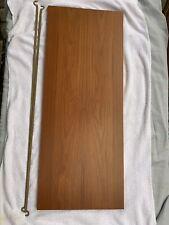 Ladderax teak shelf long Deep 89cm x 35.5cm with 2 support bars (29E)