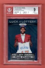 FRANK NTILIKINA 2017-18 PRIZM LUCK LOTTERY BLACK REFRACTOR RC # 1 / 1 BGS KNICKS